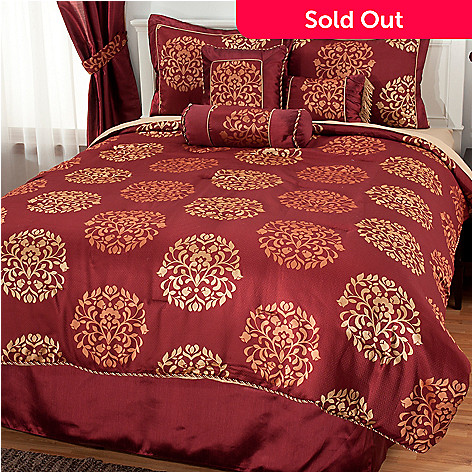 437-384 - North Shore Linens™ Seven-Piece Medallion Jacquard Bedding Ensemble