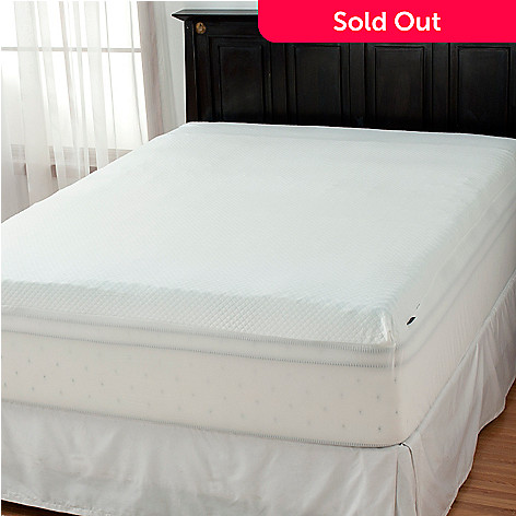 437-387 - sensorPEDIC Slumber Supreme Five-Zoned 2'' Bed Topper w/ Fitted Cover