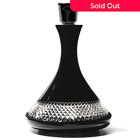 437-452 -  Waterford® Crystal John Rocha Collection Black Cut 42 oz Decanter