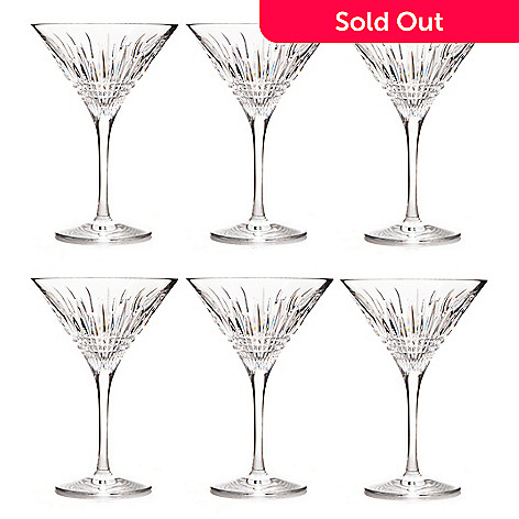 437-457 - Waterford Crystal Lismore Diamond Set of Six 6 oz Martini Glasses