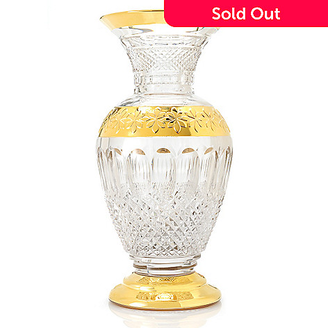 437-469 - House of Waterford® Colleen 60th Anniversary Limited Edition 12'' Crystal Gilded Vase