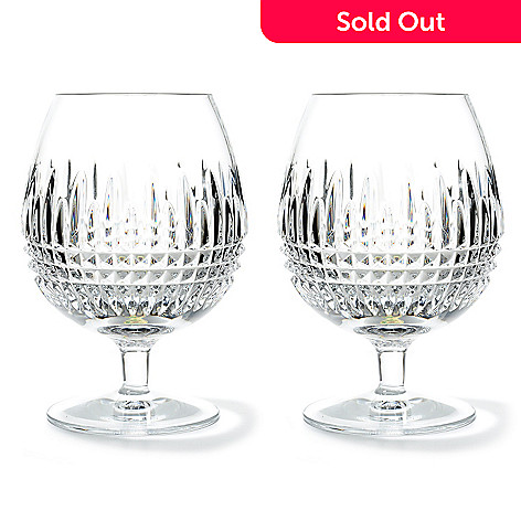 437-480 - Waterford Crystal Lismore Diamond 16 oz Brandy Glass Pair