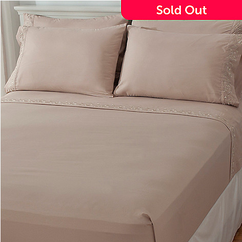437-484 - Cozelle® Microfiber Embroidered Six-Piece Sheet Set