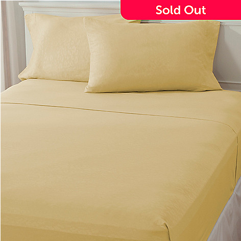 437-489 - Cozelle® ''Africa'' Microfiber Embossed Four-Piece Sheet Set