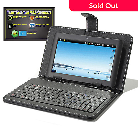 437-529 - Proscan 7'' TFT Android™ 4.1 4GB Wi-Fi Tablet w/ Case, Keyboard & Software