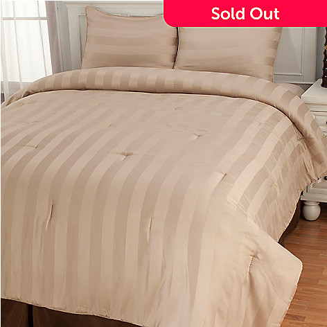 437-550 - Cozelle® Dobby Stripe Three-Piece Comforter Set