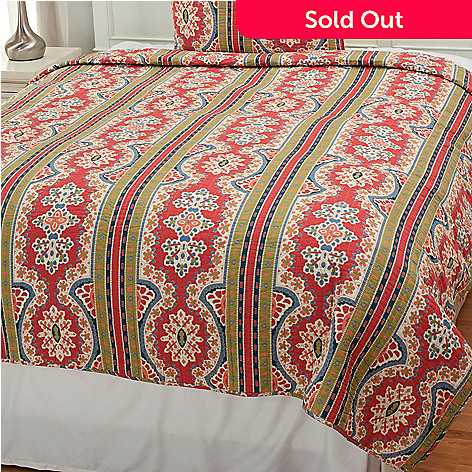 437-556 - North Shore Linens™ ''Kaleidoscope'' Cotton Quilt