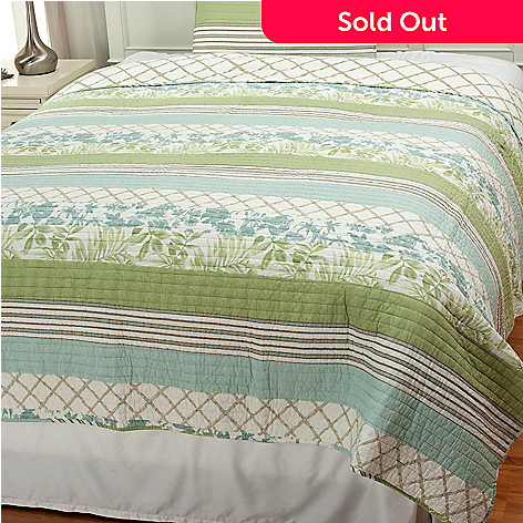 437-558 - North Shore Linens™ ''Tropical'' Cotton Quilt