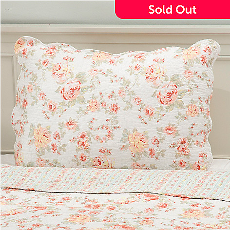 437-561 - North Shore Linens™ Cotton Floral Quilted Sham