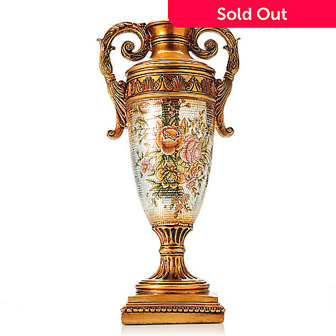 437-579 - Style at Home with Margie 19.5''Antique-Style Decorative Argento Mosaic Vase
