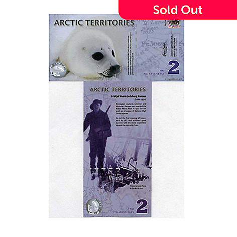 437-586 - 2010 $2 Arctic Polymer Collectors Note w/ Display Slab