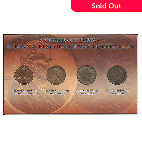 437-596 - 1859-1982 Copper/Bronze Indian Head & Lincoln Penny Collection