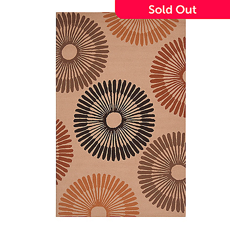 437-603 - All Season Rugs ''Bianca'' Hand-Hooked Stain/UV Resistant Indoor/Outdoor Rug