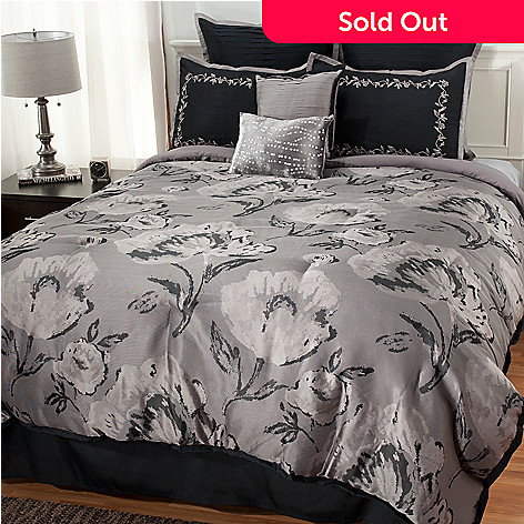 437-611 - North Shore Living™ Floral Jacquard Eight-Piece Bedding Ensemble