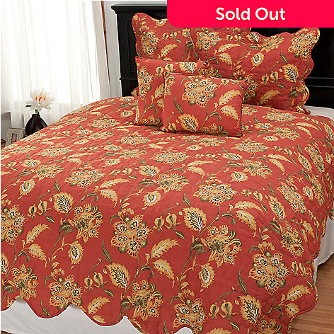 437-629 - North Shore Living™ Jacobean Floral Five-Piece Quilt Set