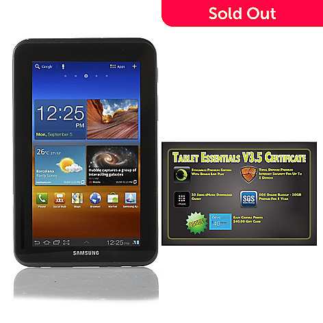 437-684 - Samsung Galaxy Tab™ 2 7'' TFT Android™ 4.0 8GB Wi-Fi Tablet w/ Software