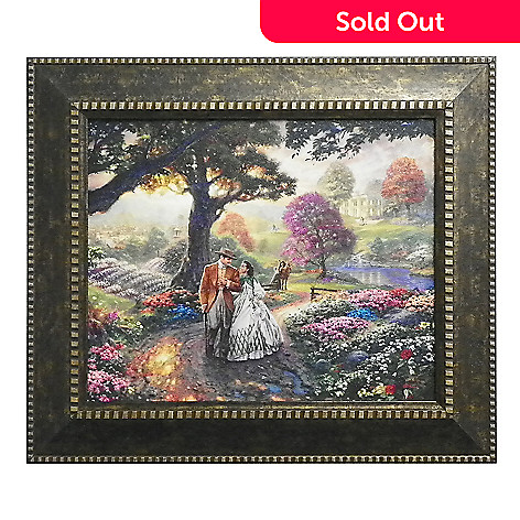 437-709 - Thomas Kinkade ''Gone with the Wind'' Framed Textured Print