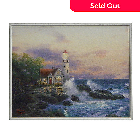 437-710 - Thomas Kinkade ''Beacon of Hope'' Shadow Boxed Hardboard Canvas