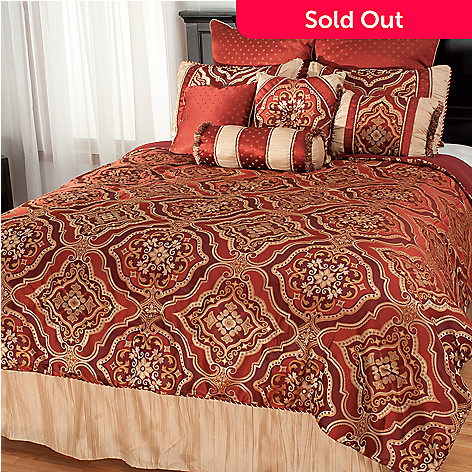 437-719 - North Shore Linens™ Medallion Jacquard 10-Piece Bedding Ensemble