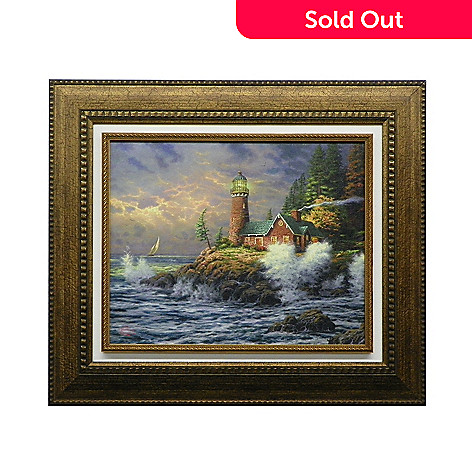 437-721 - Thomas Kinkade ''Courage'' Framed Floating Textured Print