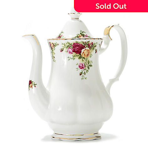 437-770 - Royal Albert Old Country Roses 42 oz Bone China Coffee Pot
