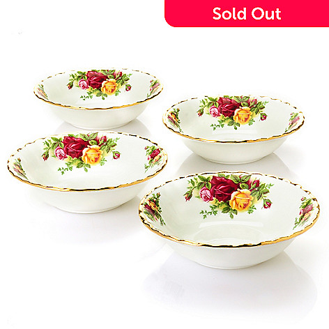 437-771 - Royal Albert Old Country Roses Set of Four 5.25'' Bone China Fruit Dishes