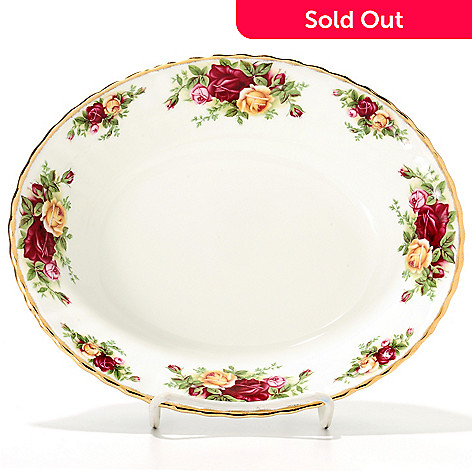437-772 - Royal Albert Old Country Roses 32 oz Bone China Open Vegetable Dish