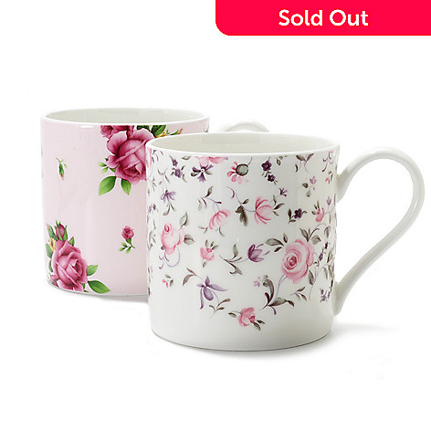437-773 - Royal Albert New Country Roses Two-Piece 12 oz Bone China Mug Set