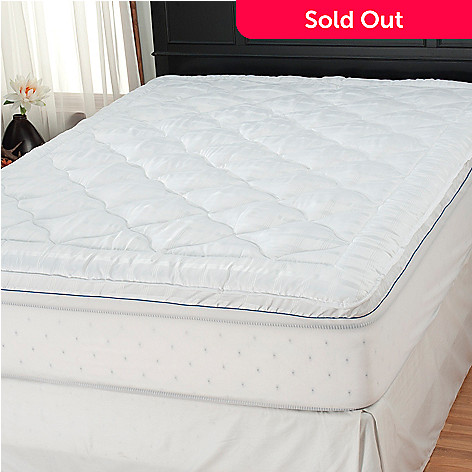 437-781 - Cozelle® 2'' 200TC Gusseted Stain & Water Resistant Dobby Mattress Pad