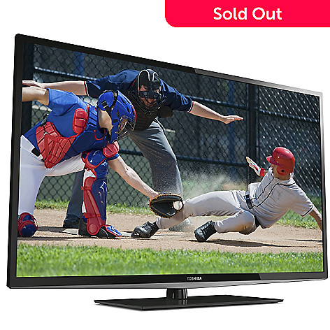 437-787 - Toshiba 50'' LED 1080p HD 120Hz Ultra-Thin TV w/ HDMI Cable & Gift Certificate