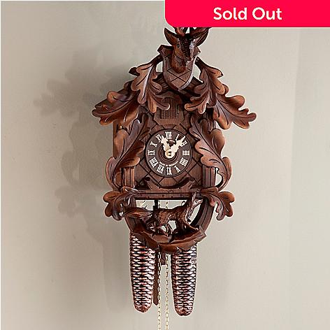 437-800 - Hubert Herr Fox & Stag Head Eight-Day Hand-Crafted Cuckoo Clock