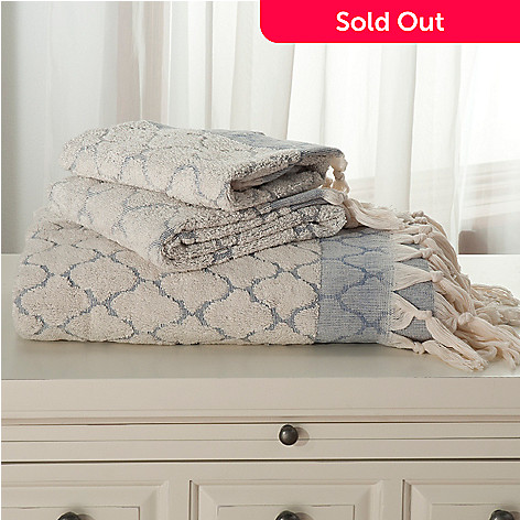 437-864 - Grand Suites® Turkish Cotton Lattice Three-Piece Towel Set