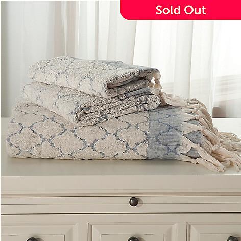437-864 - Grand Suites® Turkish Cotton Lattice Three-Piece Towel Set