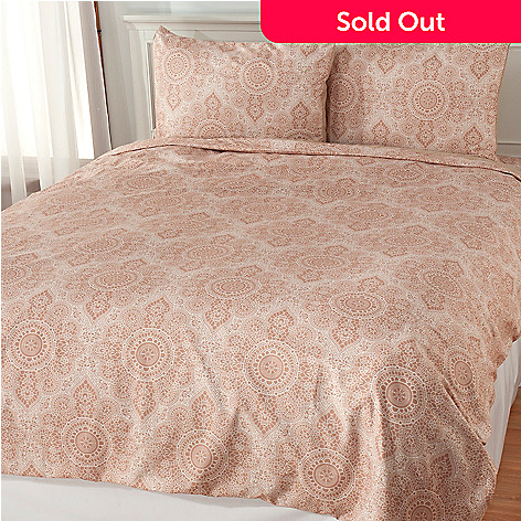 437-868 - Cozelle® Microfiber Lace Print Three-Piece Duvet Set