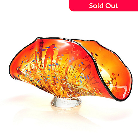 437-916 - Favrile 6'' Hand-Blown Art Glass Indiana Footed Bowl