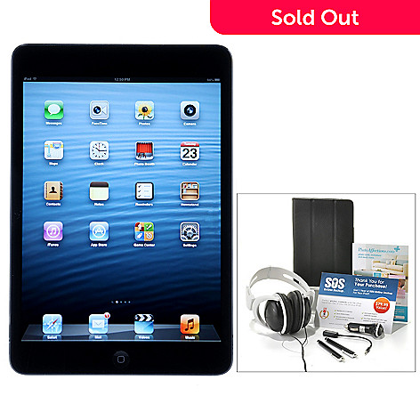 437-999 - Apple iPad Mini 7.9'' LED Touch Tablet w/ Seven-Piece Accessories Kit & Gift Certificates