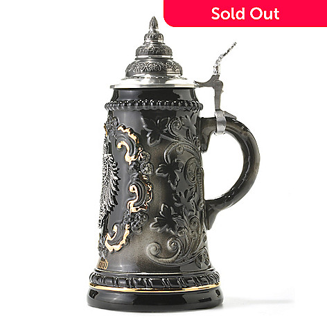 438-009 - King-Werk™ Deutschland Black-Gold Eagle Limited Edition Stoneware Stein