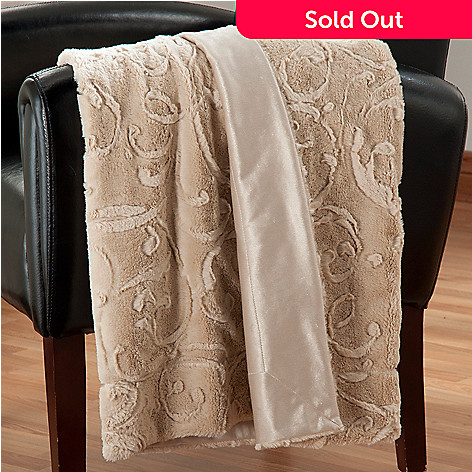438-074 - North Shore Linens™  60'' x 50'' Faux Fur Throw