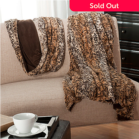 438-075 - North Shore Linens™ Faux Fur Throw & Infinity Loop Scarf Set