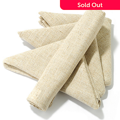 438-109 - Jorge Pérez Set of Four Poly/Linen Blend Hemstitched Napkins