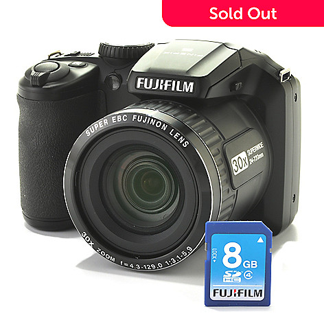 438-136 - Fujifilm FinePix 30x Optical Zoom 16MP HD Camera w/ Software & 8GB SDHC Memory Card
