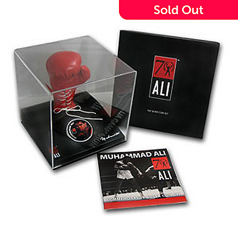 438-183 - 2012 $2 Silver Muhammad Ali UNC Limited Edition Fiji Coin w/ Glove Display Box