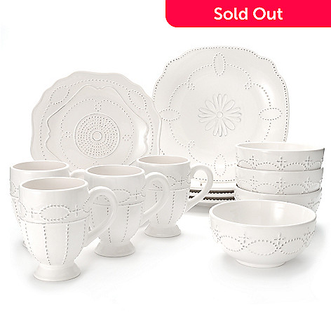 438-195 - Jorge Pérez Gabrielle 16-Piece Stoneware Dinnerware Set