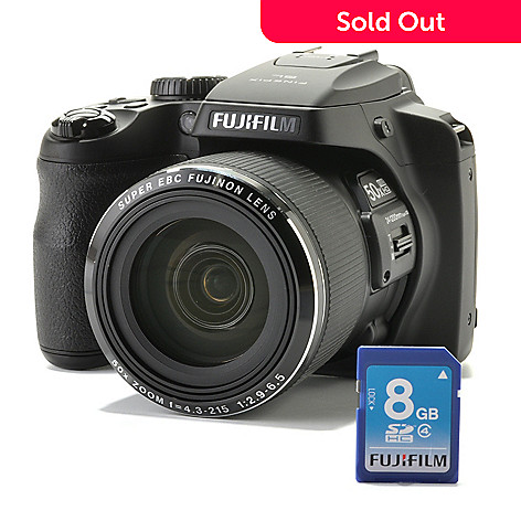 438-200 - Fujifilm FinePix 16MP 50x Optical 1080i HD Camera w/ Software & 8GB SDHC Memory Card