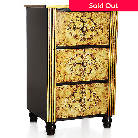 438-202 - Style at Home with Margie 27.5'' Hand-Painted Three-Drawer Chest