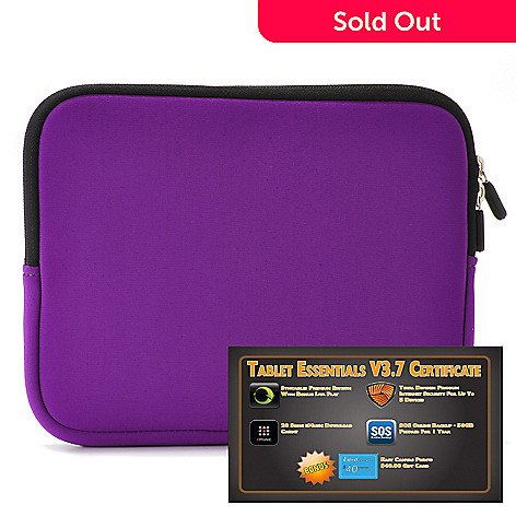 438-241 - Tablet Essentials v3.7 Software Certificate & 10'' Neoprene Tablet Case