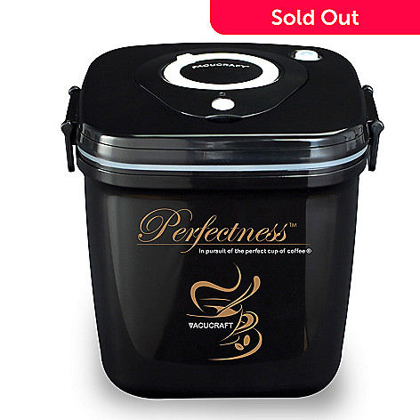 438-275 - Vacucraft Perfectness™ Electric Vacuum Sealed Coffee Container