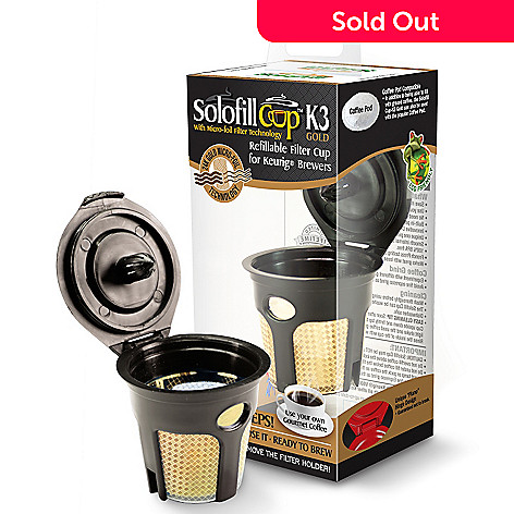 438-278 - Solofill Cup™ K3 Gold Set of Two Refillable Filter Coffee Brew Cups