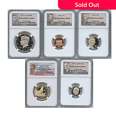 438-361 - 2013 PR69 Ultra Cameo NGC (S) Five-Piece Coin Set