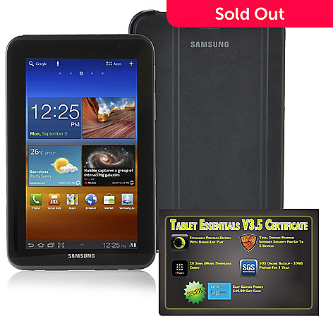438-460 - Samsung Galaxy Tab™ 2 7'' TFT Android™ 4.0 8GB Wi-Fi Tablet w/ Software & Case